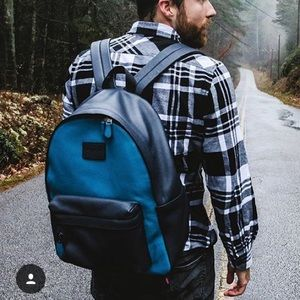 COACH two tone blue backpack UNISEX